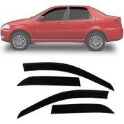 Calha de Chuva Esportiva Fiat Palio / Siena 1996 Até 2011 Fumê Tg Poli