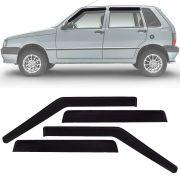 Calha de Chuva Esportiva Fiat Uno Fire 2001 Até 2013 4 Portas Fumê
