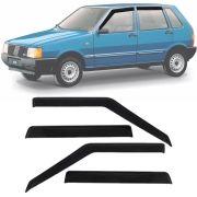 Calha de Chuva Esportiva Fiat Uno Premio Elba 1985 Até 2000 4 Portas Fumê