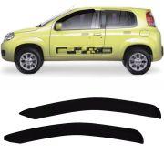 Calha de Chuva Esportiva Fiat Uno Vivace 2010 11 12 13 14 15 2 Portas Fumê Tg Poli