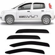 Calha de Chuva Esportiva Fiat Uno Vivace 2010 11 12 13 14 15 4 Portas Fumê Tg Poli