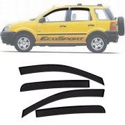 Calha de Chuva Esportiva Ford Ecosport 2003 Até 2012 Fumê