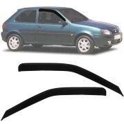 Calha de Chuva Esportiva Ford Fiesta 1996 97 98 99 00 01 02 03 / Courier 1997 Até 2013 2 Portas Fumê Tg Poli