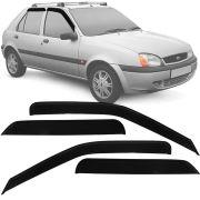 Calha de Chuva Esportiva Ford Fiesta Hatch 1996 Até 2003 Fumê