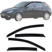 Calha de Chuva Esportiva Ford Focus Hatch / Sedan 2001 Até 2009 Fumê
