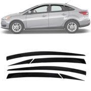 Calha de Chuva Esportiva Ford Focus Hatch / Sedan 2014 15 16 17 Fumê Tg Poli