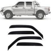 Calha de Chuva Esportiva Ford Ranger 1996 Até 2014 Cabine Dupla Fumê