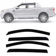 Calha de Chuva Esportiva Ford Ranger 2013 14 15 16 17 4 Portas Fumê