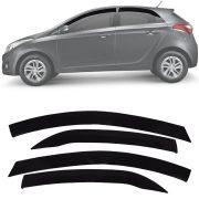 Calha de Chuva Esportiva Hyundai Hb20 Hatch 2012 13 14 15 16 17 18 Fumê Tg Poli