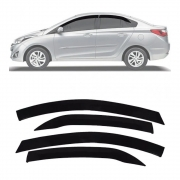 Calha de Chuva Esportiva Hyundai Hb20s Sedan 2012 13 14 15 16 17 18 Fumê Ecoflex