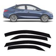 Calha de Chuva Esportiva Hyundai Hb20s Sedan 2020 Em Diante Fumê
