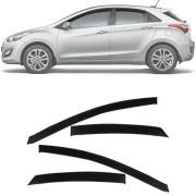 Calha de Chuva Esportiva Hyundai I30 2013 14 15 16 17 Fumê