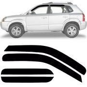 Calha de Chuva Esportiva Hyundai Tucson 2004 Até 2015 Fumê