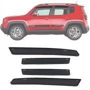 Calha de Chuva Esportiva Jeep Renegade 2015 16 17 18 Fumê