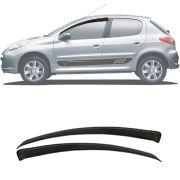 Calha de Chuva Esportiva Peugeot 206 / 207 2000 Até 2014 2 Portas Fumê