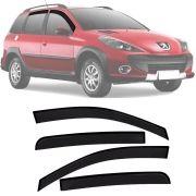 Calha de Chuva Esportiva Peugeot 206 / 207 Sw 2000 Até 2011 4 Portas Fumê