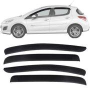 Calha de Chuva Esportiva Peugeot 308 2012 13 14 15 16 17 Fumê