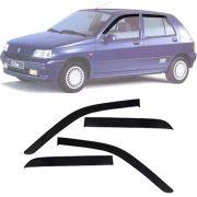 Calha de Chuva Esportiva Renault Clio Fase 1 (Argentino) 1996 97 98 99 4 Portas Fumê