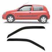 Calha de Chuva Esportiva Renault Clio Fase 2 2000 Até 2016 2 Portas Fumê
