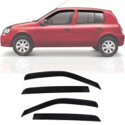 Calha de Chuva Esportiva Renault Clio Fase 2 2000 Até 2016 4 Portas Fumê
