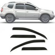 Calha de Chuva Esportiva Renault Duster 2011 12 13 14 15 16 17 18 e Oroch 2015 16 17 18 4 Portas Fumê