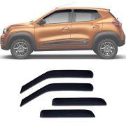 Calha de Chuva Esportiva Renault Kwid 2017 18 Fumê TgPoli