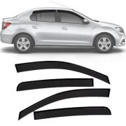 Calha de Chuva Esportiva Renault Logan 2014 15 16 17 18 Fumê