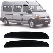 Calha de Chuva Esportiva Renault Master 2002 Até 2012 2 Portas Fumê Tg Poli