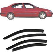 Calha de Chuva Esportiva Renault Megane 1994 Até 2005 Fumê