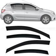Calha de Chuva Esportiva Renault Sandero 2014 15 16 17 18 Fumê