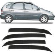 Calha de Chuva Esportiva Renault Scenic 1998 Até 2010 Fumê