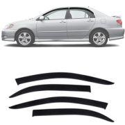 Calha de Chuva Esportiva Toyota Corolla 2003 04 05 06 07 Fumê