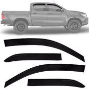 Calha de Chuva Esportiva Toyota Hilux 2016 17 18 Cabine Dupla Fumê