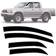 Calha de Chuva Esportiva Toyota Hilux Cabine Dupla 1997 98 99 00 01 02 03 04 Fumê