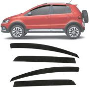 Calha de Chuva Esportiva Volkswagen Fox / Crossfox / SpaceFox 2004 Até 2019 4 Portas Fumê
