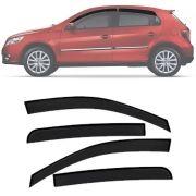Calha de Chuva Esportiva Volkswagen Gol / Voyage G5 G6 2012 13 14 15 17 4 Portas Fumê Tg Poli