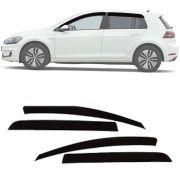Calha de Chuva Esportiva Volkswagen Golf 2014 15 16 Fumê Tg Poli