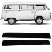 Calha de Chuva Esportiva Volkswagen Kombi 1978 Até 2011 Fumê Tg Poli