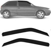 Calha de Chuva Esportiva Volkswagen Parati / Gol G2 G3 G4 1995 Até 2011 2 Portas Fumê Tg Poli
