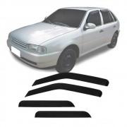 Calha de Chuva Esportiva Volkswagen Parati / Gol G2 G3 G4 1995 Até 2013 4 Portas Fumê