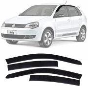 Calha de Chuva Esportiva Volkswagen Polo Hatch 2002 Até 2014 Fumê