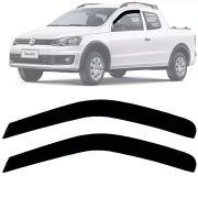 Calha de Chuva Esportiva Volkswagen Saveiro Cabine Estendida 2014 15 16 17 18 Fumê