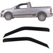 Calha de Chuva Esportiva Volkswagen Saveiro G5 G6 2012 13 15 16 17 2 Portas Fumê