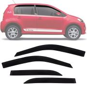 Calha de Chuva Esportiva Volkswagen Up Up! 2014 15 16 17 18 4 Portas Fumê