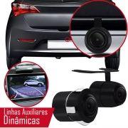 Câmera de Ré Colorida 2 em 1 Parachoque Ou Borboleta C/ Linhas Auxiliares