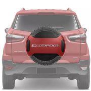 Capa de Estepe Rígida Parcial Ford Ecosport 2013 14 15 16 17 18 Vermelho Merlot