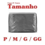 Capa Protetora para Cobrir Carro 100% Impermeável com Forro Central e Elástico Cinza