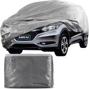 Capa Protetora para Cobrir Carro 100% Impermeável com Forro Central e Elástico Tamanho G Cinza Honda Hrv Hr-v