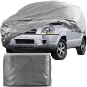 Capa Protetora para Cobrir Carro 100% Impermeável com Forro Central e Elástico Tamanho GG Cinza Hyundai Tucson