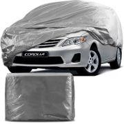 Capa Protetora para Cobrir Carro 100% Impermeável com Forro Central e Elástico Tamanho G Cinza Toyota Corolla